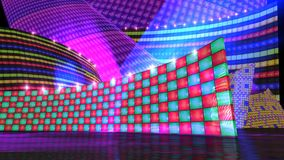 The disco stage set checker Stock Photos