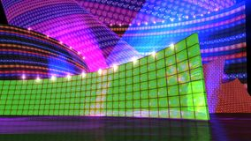 The disco stage set green Stock Photo
