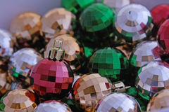 Disco Style Christmas Ornaments Stock Images