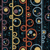 Disco style circles seamless pattern. Disco style circles seamless pattern, vector background Vector Illustration