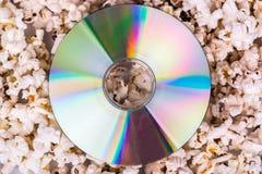 Disco su popcorn Fotografia Stock