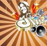 Disco-Tanz-Ereignis-Hintergrund Lizenzfreies Stockfoto