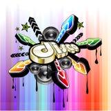 Disco-Tanz-Ereignis-Hintergrund Stockfoto