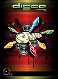 Disco-Tanz-Ereignis-Hintergrund Stockfotos