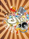 Disco-Tanz-Ereignis-Hintergrund Lizenzfreie Stockbilder