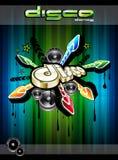 Disco-Tanz-Ereignis-Hintergrund w Lizenzfreie Stockbilder
