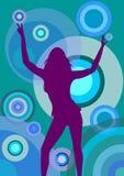 Disco-Tanzen-Frau Stockfoto