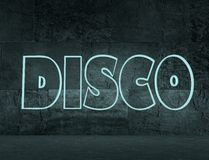 Disco text Royalty Free Stock Photography
