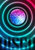 Disco-Thema mit Spiegelkugel Stockfotos