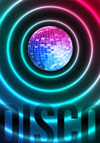 Disco Theme with Mirror ball Stock Photos