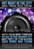 Disco Theme with speaker Royalty Free Stock Photo