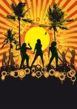 Disco tropical del partido de la playa Imagen de archivo