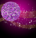 Disco tunes vector. Beautiful disco tunes vector illustration.  Easy to edit Royalty Free Stock Photo