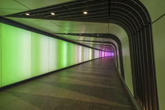 Disco Tunnel at King's Cross St. Pancras station Royalty Free Stock Photo