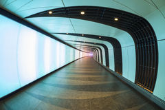 Disco Tunnel at King's Cross St. Pancras station Royalty Free Stock Images