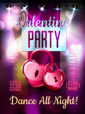 Disco Valentine background. Royalty Free Stock Images