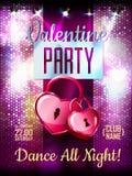 Disco Valentine background Stock Photography