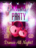 Disco Valentine background. Royalty Free Stock Photo