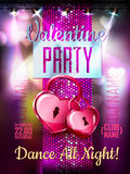 Disco Valentine background. Royalty Free Stock Image