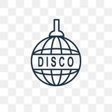 Disco vector icon isolated on transparent background, linear Dis stock illustration
