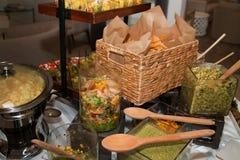 Disco vegetal de la comida fría de Hors Doeuvre Imagenes de archivo