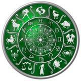 Disco verde do zodíaco Imagem de Stock