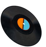 Disco, vintage vinyl record, clipping path, coal Royalty Free Stock Photography