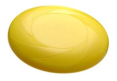 Disco volador amarillo Fotografía de archivo libre de regalías