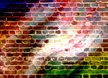 Disco wall. Brick wall background or desktop in blue Royalty Free Stock Images