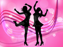 Disco Women Means Adult Dancing And Celebration Royalty Free Stock Photo