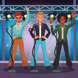 Disco artist at stage cartoons stock illustration