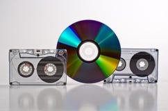 Disco y cinta Imagenes de archivo