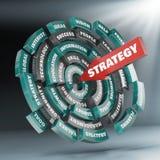 Disco y flecha de la estrategia Foto de archivo libre de regalías
