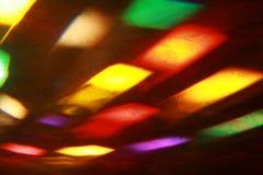 Disco y luz laser de los colores Imágenes de archivo libres de regalías