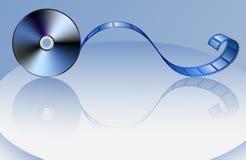 Disco-y-película Foto de archivo