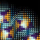 Discoachtergrond met halftone punten in retro stijl Stock Afbeelding