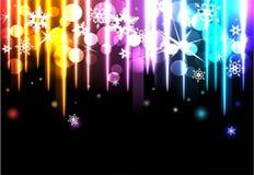 Discoachtergrond met sneeuwvlokken Royalty-vrije Stock Afbeeldingen