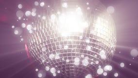 Discobal en bokeh lichten stock videobeelden