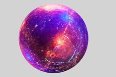 Discoball στο γκρίζο υπόβαθρο Στοκ εικόνα με δικαίωμα ελεύθερης χρήσης