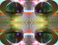 discoball光 库存图片