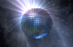 Discoball. A 3d render of a mirror disco ball Royalty Free Stock Images