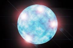 discoball bleu Images libres de droits