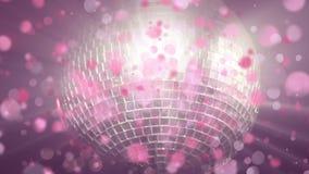 Discoball, der mit Blasenanimation hinaufklettert lizenzfreie abbildung