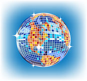 Discoball earth Royalty Free Stock Photography