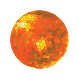 Discoball en tonos anaranjados Imagen de archivo
