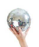 Discoball in hand Royalty Free Stock Images