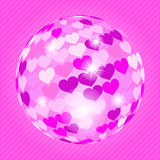 Discoball with hearts Royalty Free Stock Photo