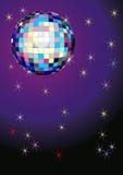 Discoball met sterren Royalty-vrije Stock Foto's