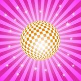 Discoball mit Sternen Lizenzfreie Stockfotos