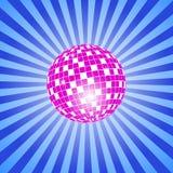 Discoball mit Sternen Lizenzfreie Stockfotografie